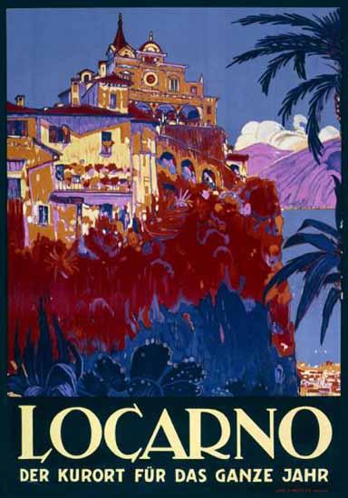 Roaring 1920s Locarno Der Kurort Fuer Das Ganze Jahr Switzerland 1926 | Roaring 1920s Ad Art and Magazine Cover Art