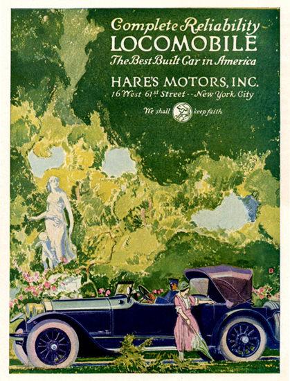 Roaring 1920s Locomobile Victoria 1921 New York City | Roaring 1920s Ad Art and Magazine Cover Art