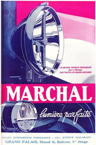 Roaring 1920s Marchal Lumiere Parfaite 1927 Sur Tout Voitures | Roaring 1920s Ad Art and Magazine Cover Art