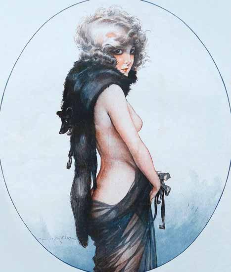 Roaring 1920s Maurice Milliere La Vie Parisienne 1923 Poule Renard page | Roaring 1920s Ad Art and Magazine Cover Art