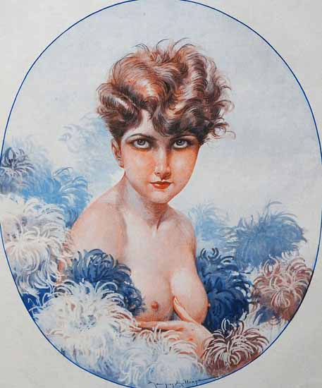 Roaring 1920s Maurice Milliere La Vie Parisienne 1926 Sa Fete page   Roaring 1920s Ad Art and Magazine Cover Art