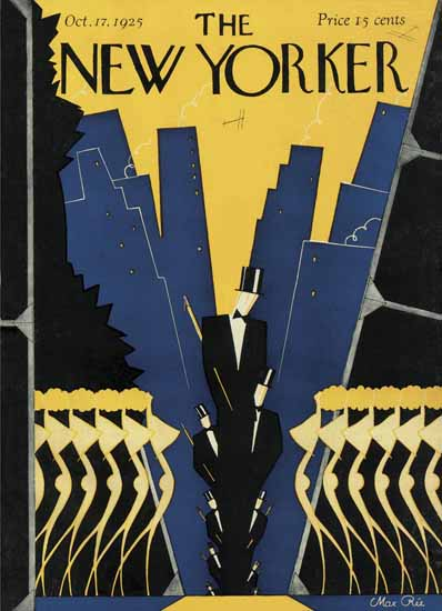 Roaring 1920s Max Ree The New Yorker 1925_10_17 Copyright | Roaring 1920s Ad Art and Magazine Cover Art