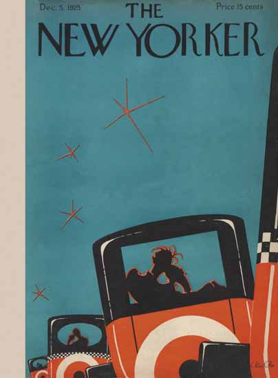 Roaring 1920s Max Ree The New Yorker 1925_12_05 Copyright | Roaring 1920s Ad Art and Magazine Cover Art