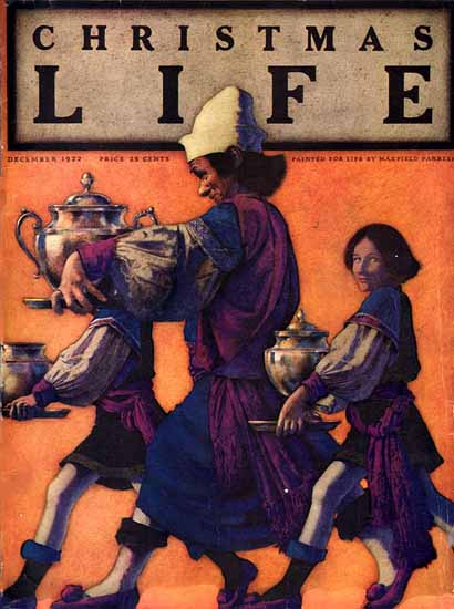 Roaring 1920s Maxfield Parrish Life Magazine 1922-12-07 Copyright | Roaring 1920s Ad Art and Magazine Cover Art