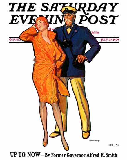 Roaring 1920s McClelland Barclay Saturday Evening Post Now 1929_07_27 | Roaring 1920s Ad Art and Magazine Cover Art