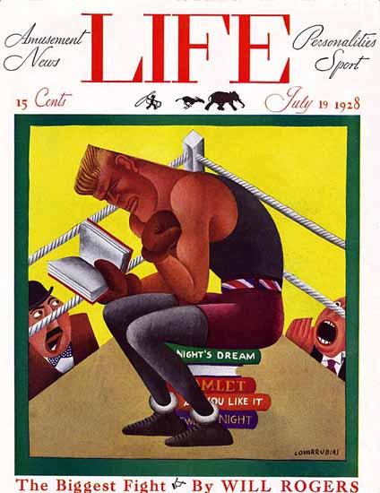 Roaring 1920s Miguel Covarrubias Life Magazine 1928-07-19 Copyright | Roaring 1920s Ad Art and Magazine Cover Art