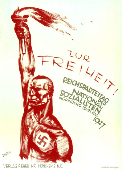 Roaring 1920s NSDAP Reichsparteitag 1927 Nuernberg Nazi | Roaring 1920s Ad Art and Magazine Cover Art