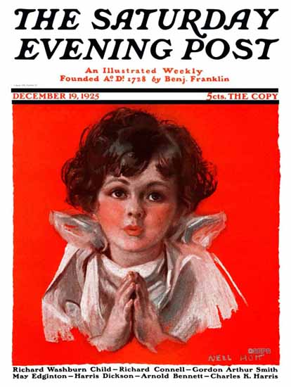 Roaring 1920s Nell Hott Saturday Evening Post Cover 1925_12_19 | Roaring 1920s Ad Art and Magazine Cover Art