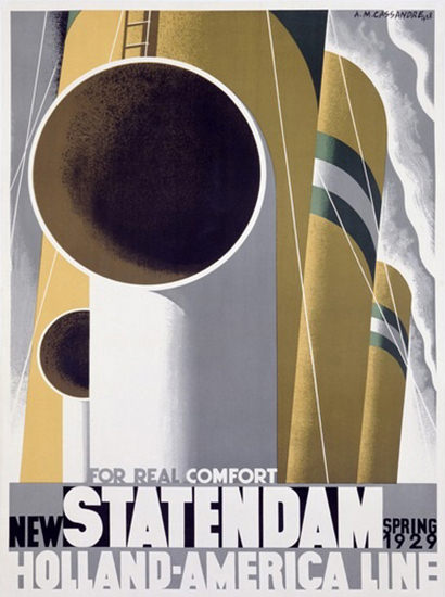 Roaring 1920s New Statendam 1929 Holland-America Line | Roaring 1920s Ad Art and Magazine Cover Art