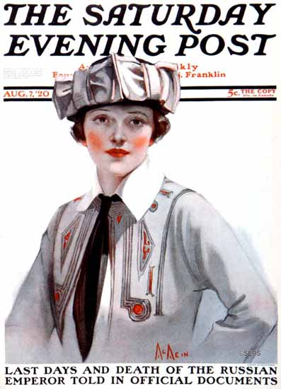 Roaring 1920s Neysa McMein Artist Saturday Evening Post 1920_08_07 | Roaring 1920s Ad Art and Magazine Cover Art