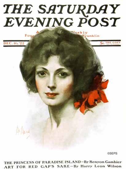 Roaring 1920s Neysa McMein Artist Saturday Evening Post 1922_12_16 | Roaring 1920s Ad Art and Magazine Cover Art