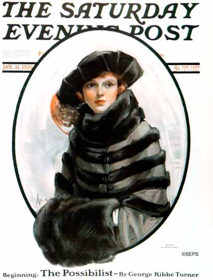 Roaring 1920s Neysa McMein Saturday Evening Post 1920_01_31 | Roaring 1920s Ad Art and Magazine Cover Art