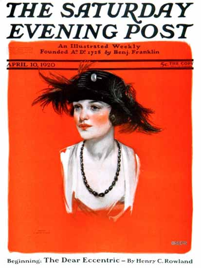 Roaring 1920s Neysa McMein Saturday Evening Post 1920_04_10 | Roaring 1920s Ad Art and Magazine Cover Art