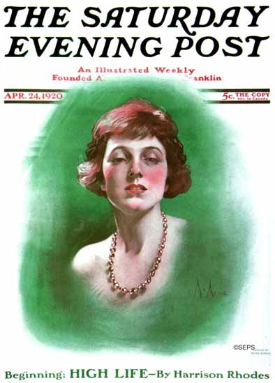 Roaring 1920s Neysa McMein Saturday Evening Post 1920_04_24 | Roaring 1920s Ad Art and Magazine Cover Art