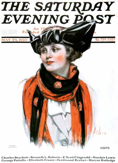 Roaring 1920s Neysa McMein Saturday Evening Post 1920_05_29   Roaring 1920s Ad Art and Magazine Cover Art