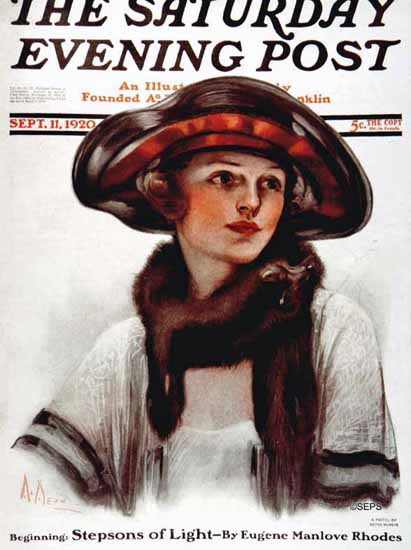 Roaring 1920s Neysa McMein Saturday Evening Post 1920_09_11 | Roaring 1920s Ad Art and Magazine Cover Art
