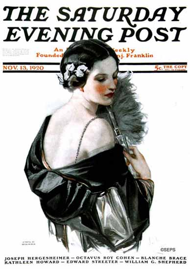 Roaring 1920s Neysa McMein Saturday Evening Post 1920_11_13 | Roaring 1920s Ad Art and Magazine Cover Art