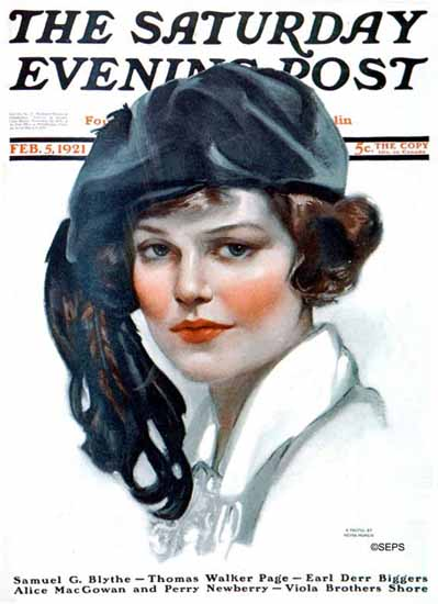 Roaring 1920s Neysa McMein Saturday Evening Post 1921_02_05 | Roaring 1920s Ad Art and Magazine Cover Art
