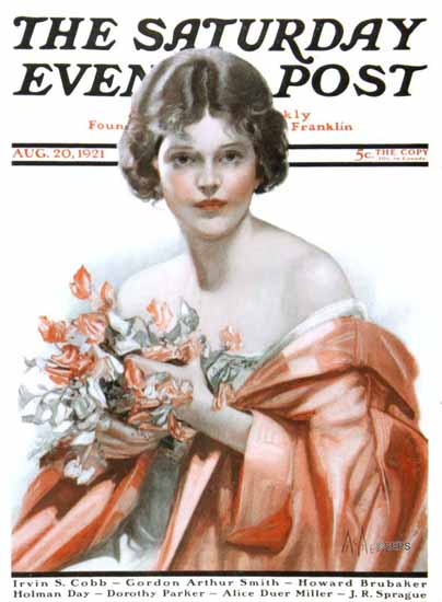 Roaring 1920s Neysa McMein Saturday Evening Post 1921_08_20 | Roaring 1920s Ad Art and Magazine Cover Art