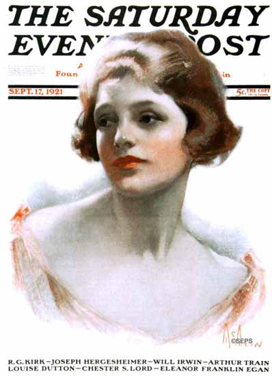 Roaring 1920s Neysa McMein Saturday Evening Post 1921_09_17 | Roaring 1920s Ad Art and Magazine Cover Art