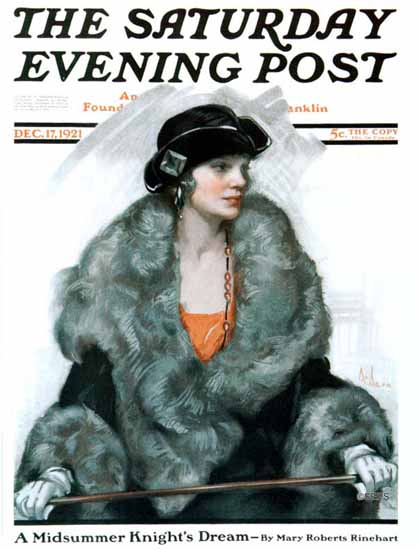 Roaring 1920s Neysa McMein Saturday Evening Post 1921_12_17 | Roaring 1920s Ad Art and Magazine Cover Art