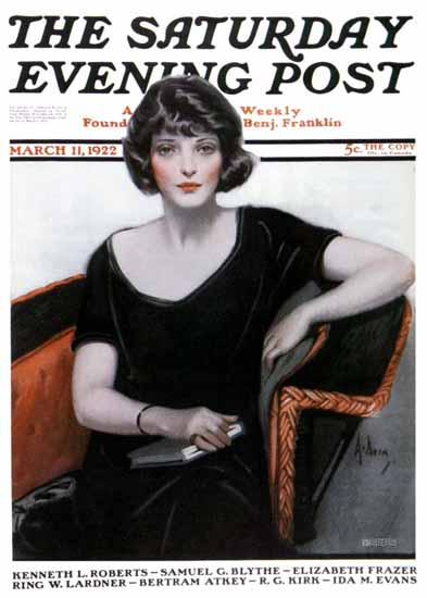 Roaring 1920s Neysa McMein Saturday Evening Post 1922_03_11 | Roaring 1920s Ad Art and Magazine Cover Art
