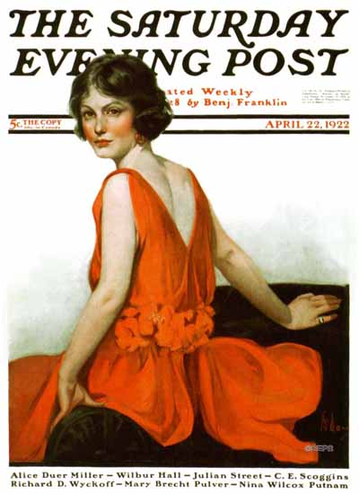 Roaring 1920s Neysa McMein Saturday Evening Post 1922_04_22 | Roaring 1920s Ad Art and Magazine Cover Art