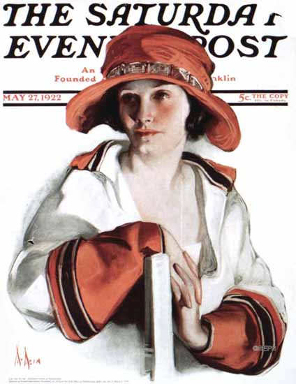 Roaring 1920s Neysa McMein Saturday Evening Post 1922_05_27 | Roaring 1920s Ad Art and Magazine Cover Art