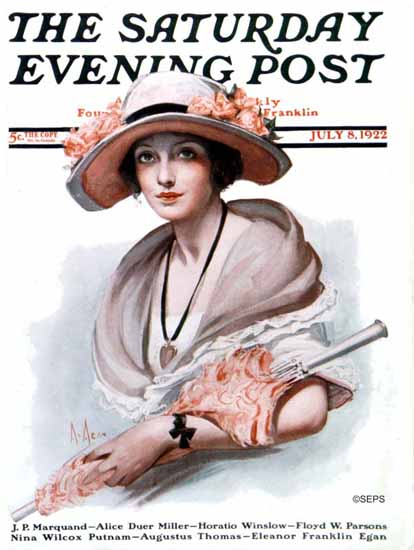 Roaring 1920s Neysa McMein Saturday Evening Post 1922_07_08 | Roaring 1920s Ad Art and Magazine Cover Art
