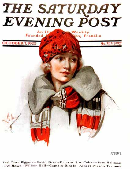 Roaring 1920s Neysa McMein Saturday Evening Post 1922_10_07 | Roaring 1920s Ad Art and Magazine Cover Art