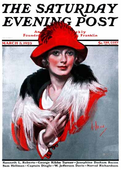 Roaring 1920s Neysa McMein Saturday Evening Post 1923_03_03 | Roaring 1920s Ad Art and Magazine Cover Art