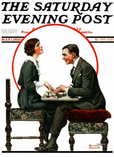 Roaring 1920s Norman Rockwell Artist Saturday Evening Post 1920_05_01   Roaring 1920s Ad Art and Magazine Cover Art
