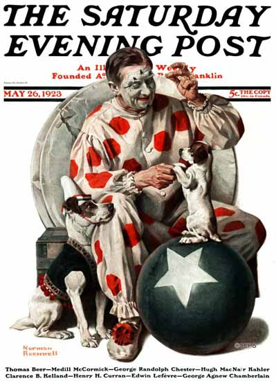 Roaring 1920s Norman Rockwell Artist Saturday Evening Post 1923_05_26 | Roaring 1920s Ad Art and Magazine Cover Art