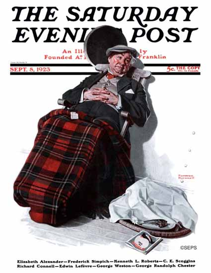 Roaring 1920s Norman Rockwell Artist Saturday Evening Post 1923_09_08 | Roaring 1920s Ad Art and Magazine Cover Art
