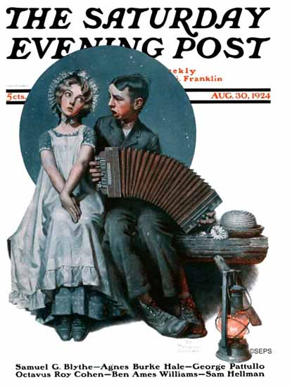Roaring 1920s Norman Rockwell Artist Saturday Evening Post 1924_08_30 | Roaring 1920s Ad Art and Magazine Cover Art