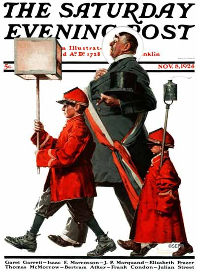 Roaring 1920s Norman Rockwell Artist Saturday Evening Post 1924_11_08 | Roaring 1920s Ad Art and Magazine Cover Art