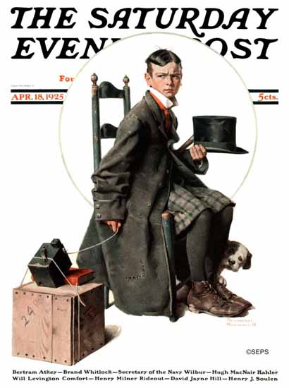 Roaring 1920s Norman Rockwell Artist Saturday Evening Post 1925_04_18 | Roaring 1920s Ad Art and Magazine Cover Art