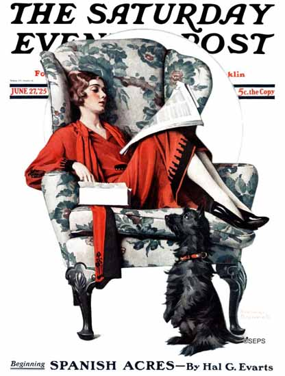 Roaring 1920s Norman Rockwell Artist Saturday Evening Post 1925_06_27 | Roaring 1920s Ad Art and Magazine Cover Art