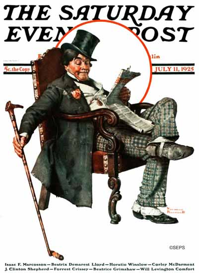 Roaring 1920s Norman Rockwell Artist Saturday Evening Post 1925_07_11 | Roaring 1920s Ad Art and Magazine Cover Art