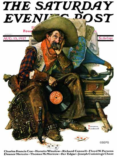 Roaring 1920s Norman Rockwell Artist Saturday Evening Post 1927_08_13 | Roaring 1920s Ad Art and Magazine Cover Art