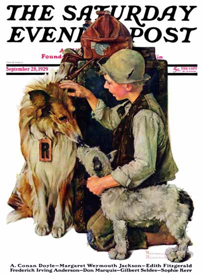 Roaring 1920s Norman Rockwell Artist Saturday Evening Post 1929_09_28 | Roaring 1920s Ad Art and Magazine Cover Art