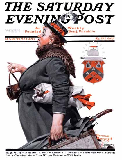 Roaring 1920s Norman Rockwell Saturday Evening Post 1920_03_27 | Roaring 1920s Ad Art and Magazine Cover Art