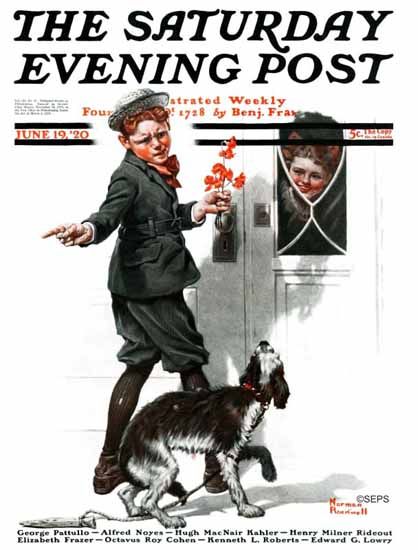 Roaring 1920s Norman Rockwell Saturday Evening Post 1920_06_19 | Roaring 1920s Ad Art and Magazine Cover Art