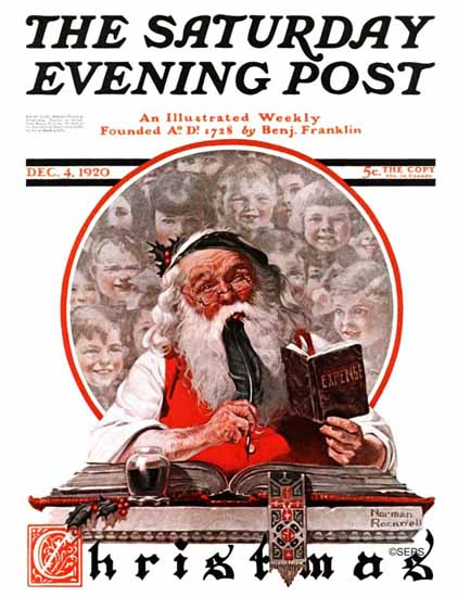 Roaring 1920s Norman Rockwell Saturday Evening Post 1920_12_04 | Roaring 1920s Ad Art and Magazine Cover Art