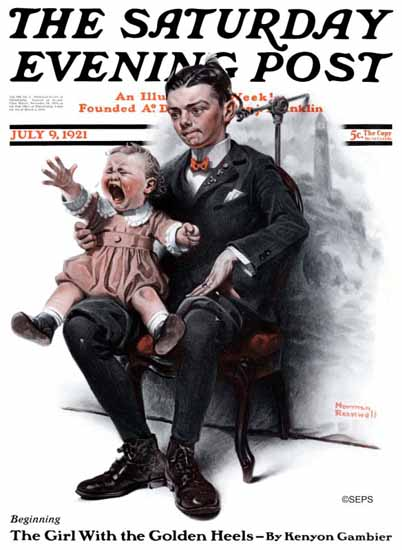 Roaring 1920s Norman Rockwell Saturday Evening Post 1921_07_09 | Roaring 1920s Ad Art and Magazine Cover Art