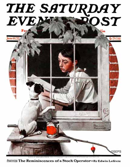 Roaring 1920s Norman Rockwell Saturday Evening Post 1922_06_10 | Roaring 1920s Ad Art and Magazine Cover Art