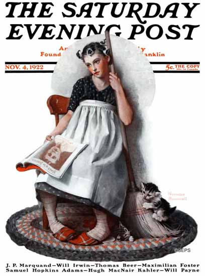 Roaring 1920s Norman Rockwell Saturday Evening Post 1922_11_04 | Roaring 1920s Ad Art and Magazine Cover Art