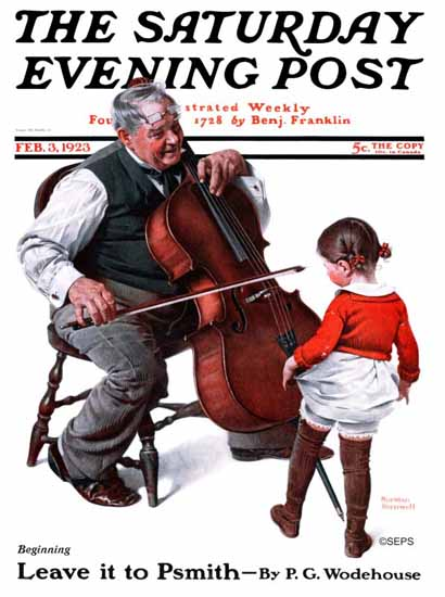 Roaring 1920s Norman Rockwell Saturday Evening Post 1923_02_03 | Roaring 1920s Ad Art and Magazine Cover Art