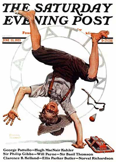 Roaring 1920s Norman Rockwell Saturday Evening Post 1923_06_23   Roaring 1920s Ad Art and Magazine Cover Art