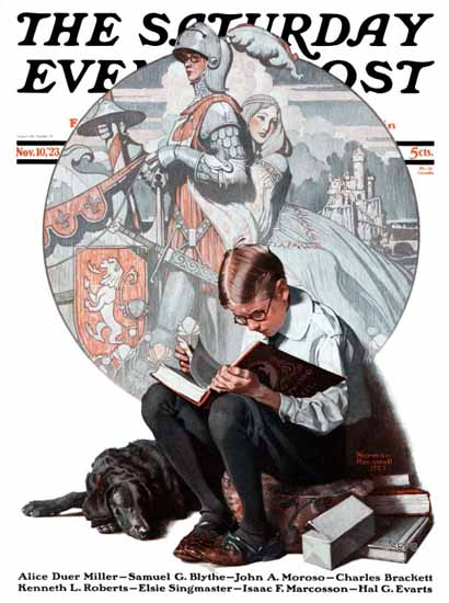 Roaring 1920s Norman Rockwell Saturday Evening Post 1923_11_10 | Roaring 1920s Ad Art and Magazine Cover Art